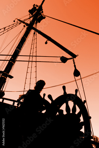 captain's sunset silhouette