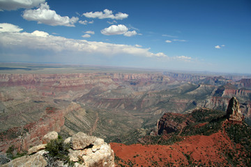 wide open grand canyon scenic