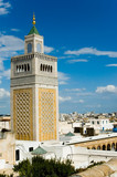 mosque tower in tunis poster