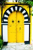 yellow arabian door poster