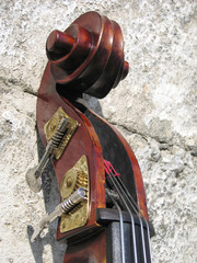 double-bass scroll