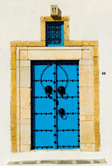 blue arabian door