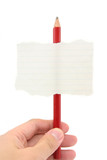blank notepaper stick on a pencil poster