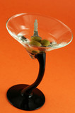martini with car keys inside