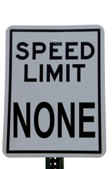 speed limit none