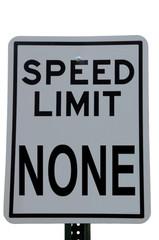 speed limit none