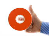 hand with disc poster