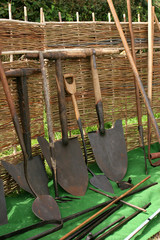 old vintage shovels