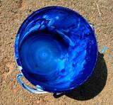 blue paint poster
