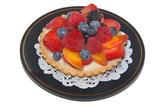 fruit tart for dessert poster