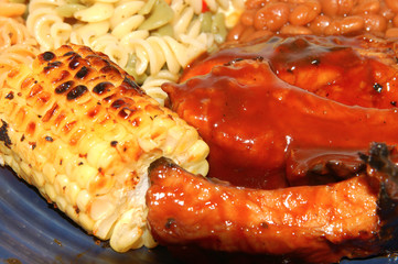 barbeque spare rib dinner