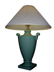 white and green lamp