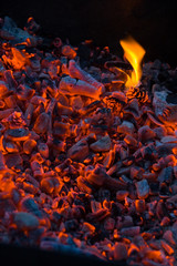 decaying coals