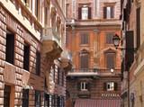 rome centre urban buildings poster