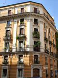 typical mediterranean building in rome poster
