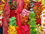 colorful sweets in a snack stall poster
