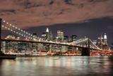 Fototapety brooklyn bridge  at night