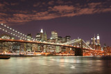 brooklyn bridge  at night-