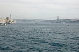 turkish view with bosporus bridge. istanbul, turkey poster