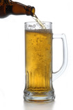 beer bottle and mug poster
