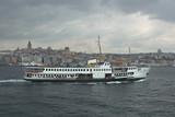 ship in bosporus. instanbul, turkey. poster