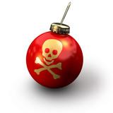 christmas skull poster