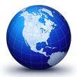 world globe america