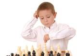 chess boy five poster