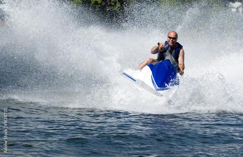 Fotobehang Water Motorsp. seadoo in action