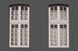 fenêtres petits carreaux détourées