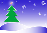 merry christmas illustration poster