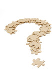 question mark made by puzzles poster