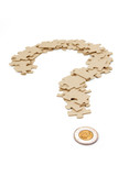 canadian dollar and  question mark poster