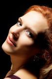 redhead woman portrait poster