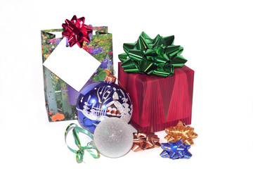 christmas gifts and ornaments