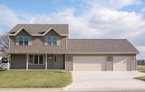 two-story ranch home poster