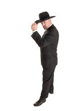 cowboy businessman tipping hat poster