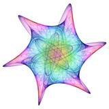 cosmic snowflake poster