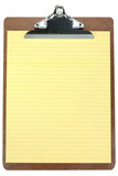 clipboard with yellow notepaper poster