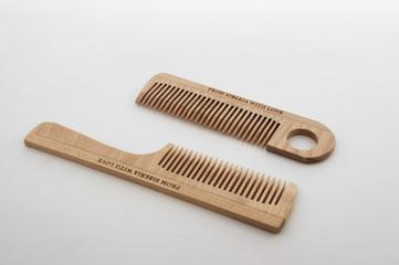 wooden crest  hairbrush