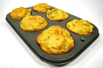 freshly baked vegetable muffins
