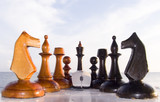 combination from chessmen and the computer mouse poster