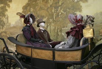 coach window dressing mannequins