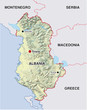 landkarte albanien albania map