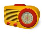retro radio poster