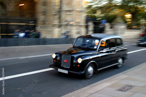 canvas print picture london taxi