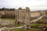 roman forum structures poster