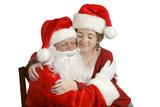a hug for santa poster
