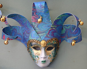 a beautiful mask of carnival of venice