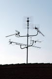 tv house antenna - aerial poster